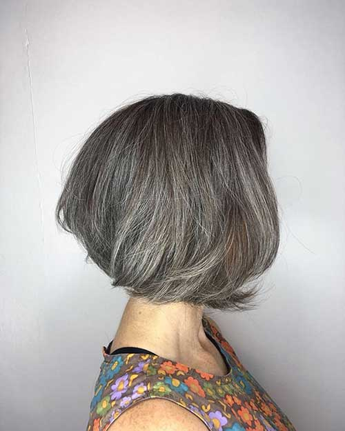 Grey Short Bob Hair