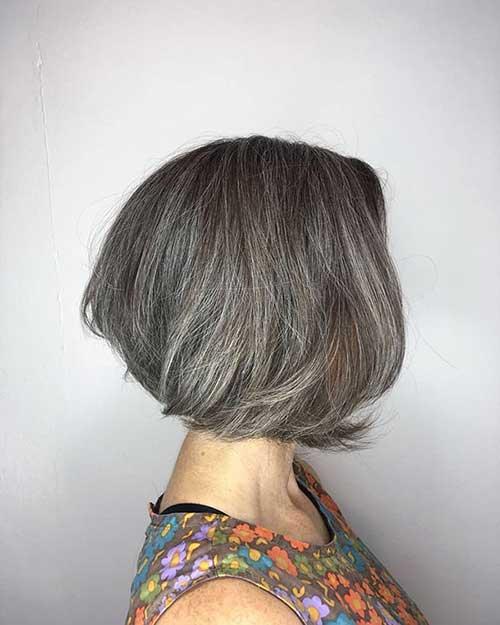 Grey Short Bob Hair
