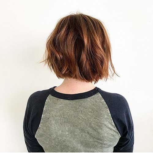 Short Brown Bob Hairstyle