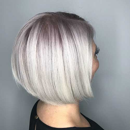 Platinum Blonde Bob Hair