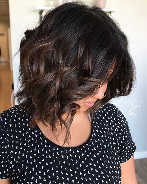 Wavy Curly Short Hairstyle