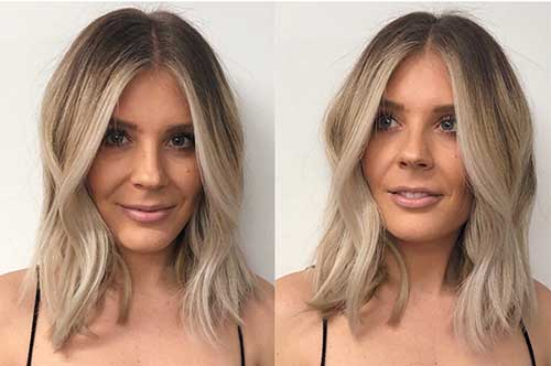 Ombre Short Blonde Hairstyle
