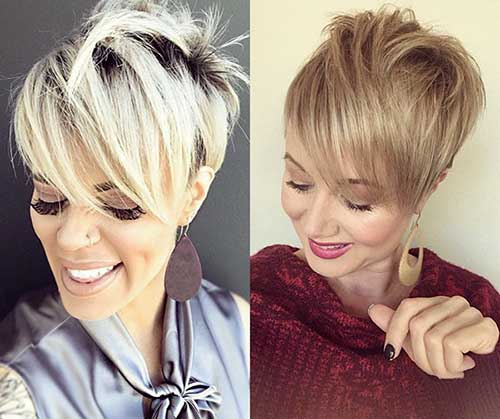 Layered Blonde Pixie Styles
