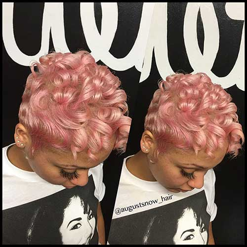 Black Girl Short Blonde Hairstyle