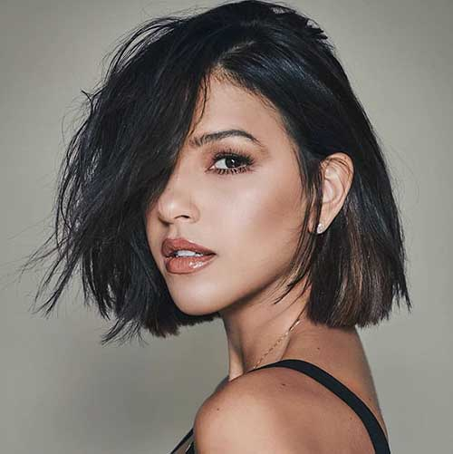 Sexy Short Hair Cut Brunette