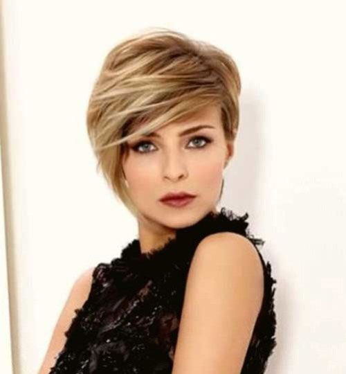 Short Hair for Round Face-9