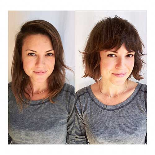 Womens Short Haircuts With Bangs