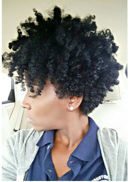 Short Naturally Curly Black Women Haircuts-13