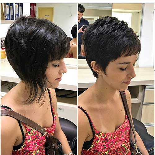Short Pixie Cut With Bangs