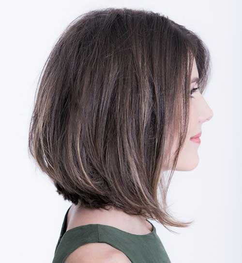 Short Long Bob Hairstyles for Over 40-10