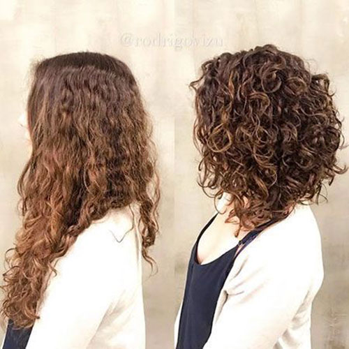 Shoulder Length Hairstyles for Short Curly Hair-10