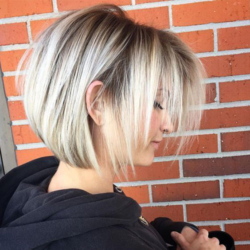 Short Haircuts Dark Roots for Women with Fine Hair-13