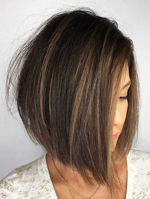 Inverted Short Hairstyles for Over 40-16