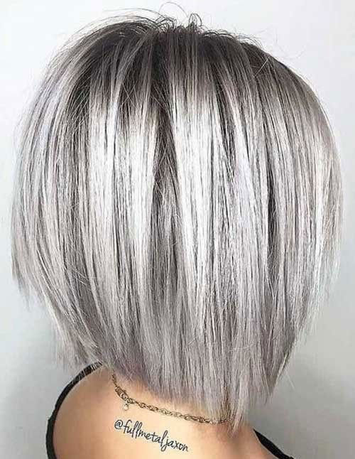 Grey Short Haircuts for Women with Fine Hair-7
