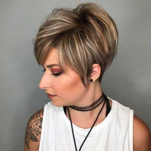 Hairstyles for Short Layered Hair-7