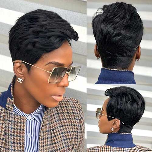 Modern Short Hairstyles for Black Ladies-10