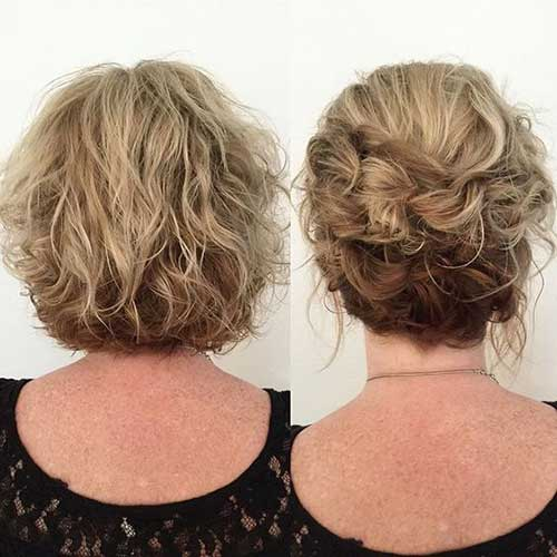 Cute Updos for Short Curly Hair-10