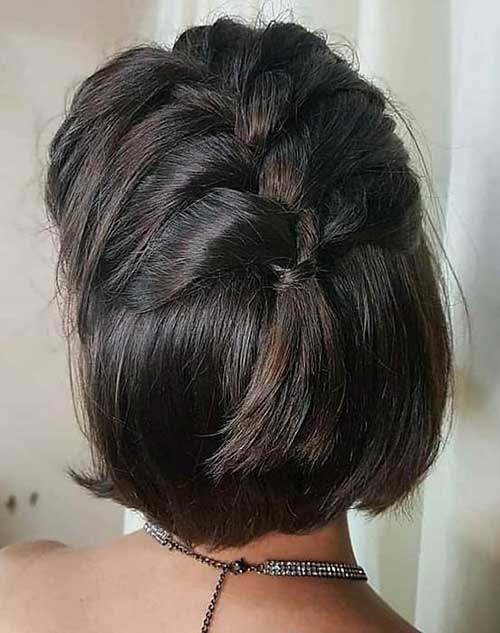 Cute Updos for Short Hair-11