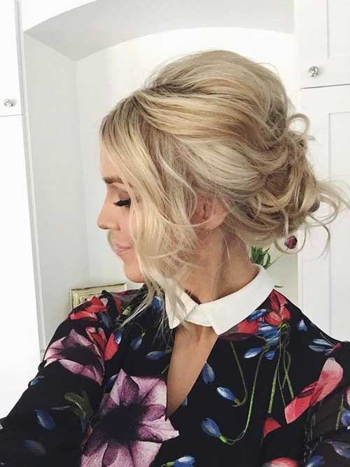 Cute Updos for Short Hair-12