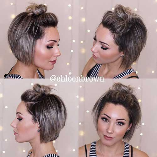Cute Half Updos for Short Hair-6