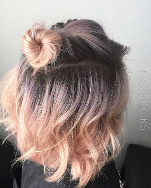 Cute Simple Updos for Short Hair-7