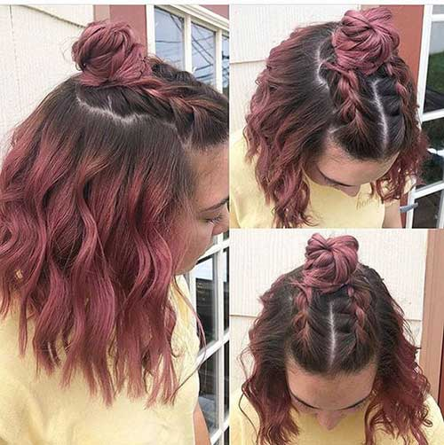 Cute Braided Updos for Short Hair-8