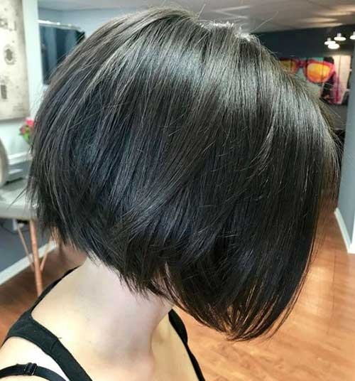 Short Dark Brown Bob Haircuts-8