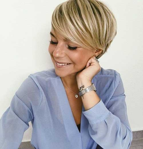 Pixie Blonde Hair