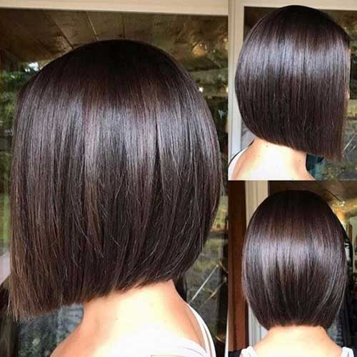 Dark Brown Lob Haircut 2019-7