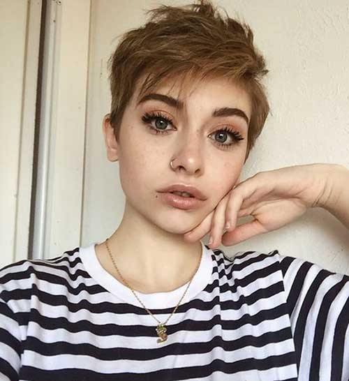 Natural Brown Hair Color Pixie Crop Haircut-7