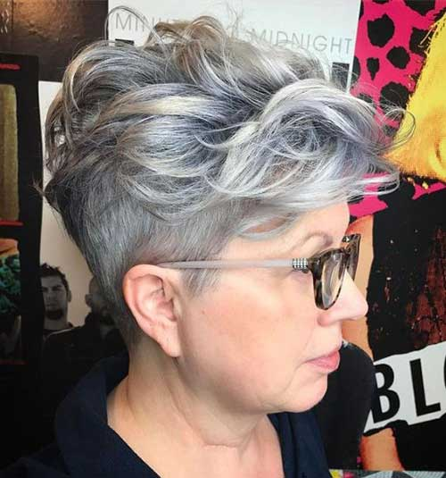 Grey Pixie Crop Haircut-8