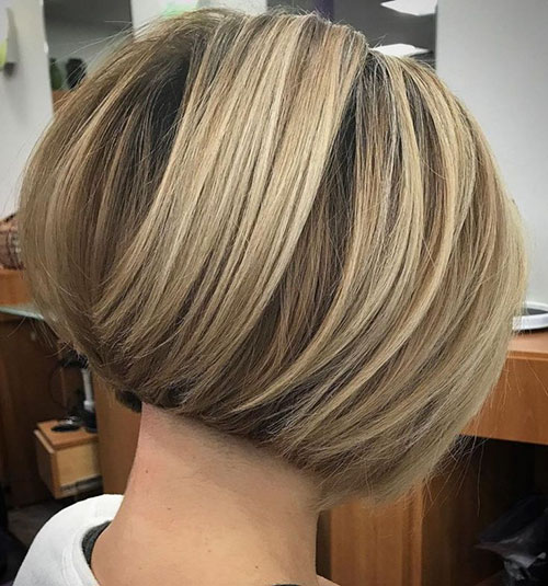Short Stacked Bob Haircuts