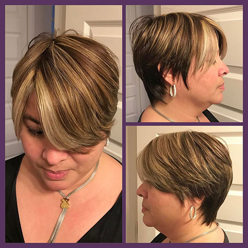 Short Hair On Plus Size