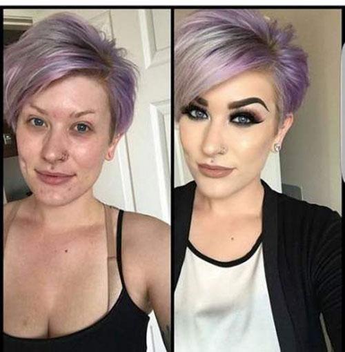 Pixie Cut Purple