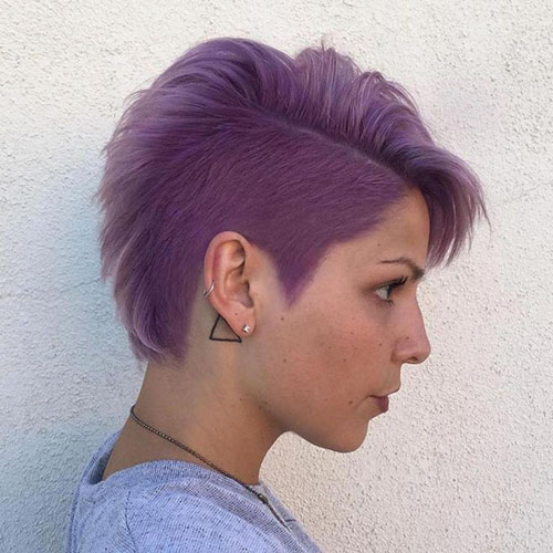 Purple Pixie Hair