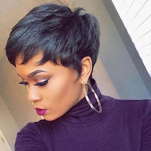 Short Pixie Cut For Black Hair