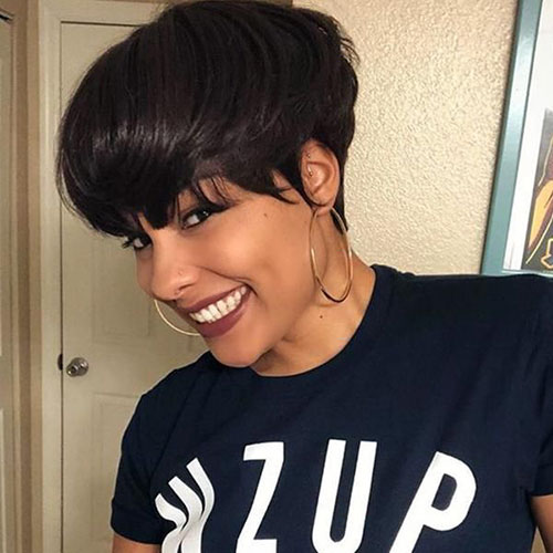 Black Short Pixie Cuts