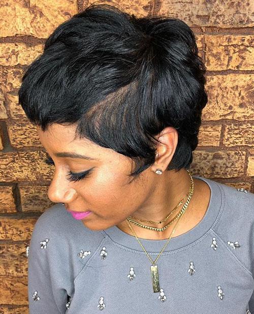 Short Black Pixie Cuts