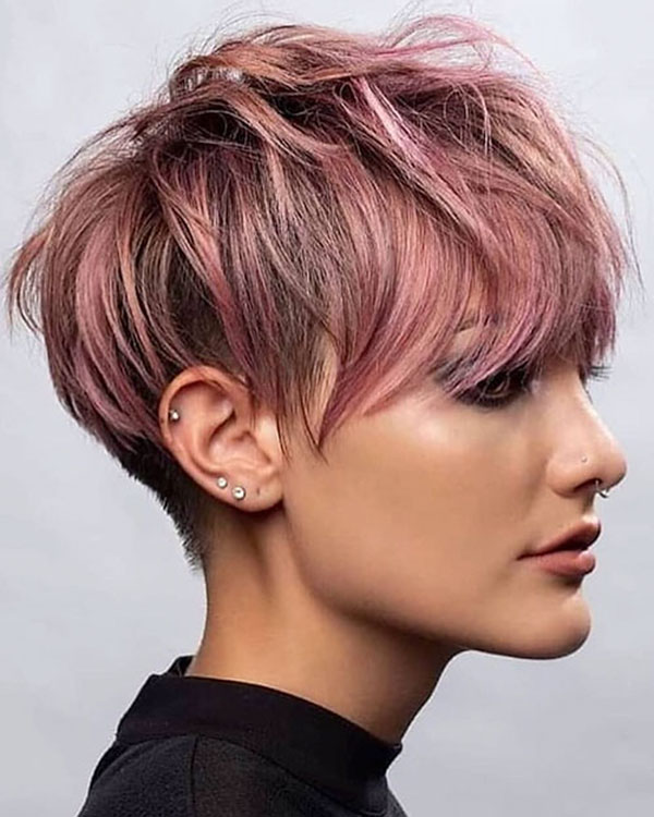 Pink Pixie Cut Hairstyles