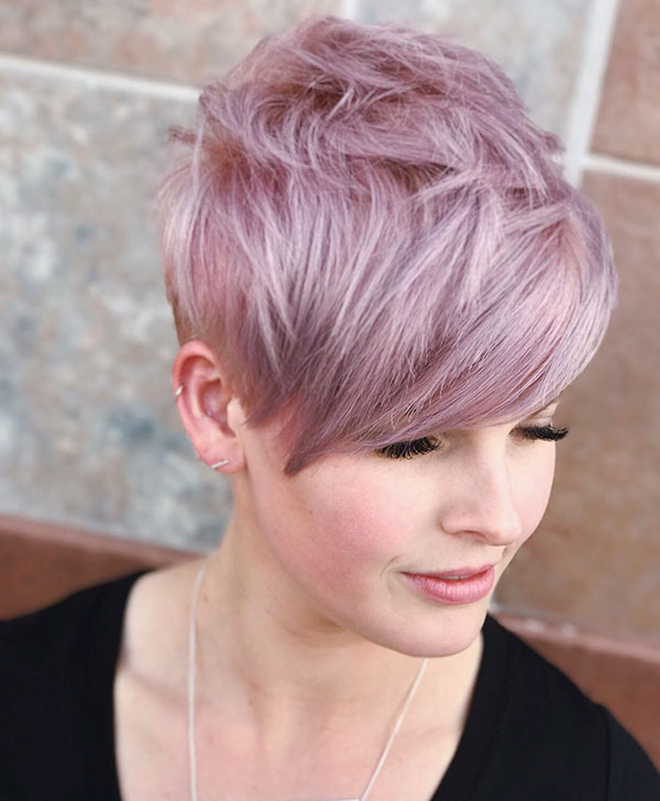 Amazing Pink Pixie Cut