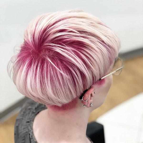Pink Pixie Haircut Ideas