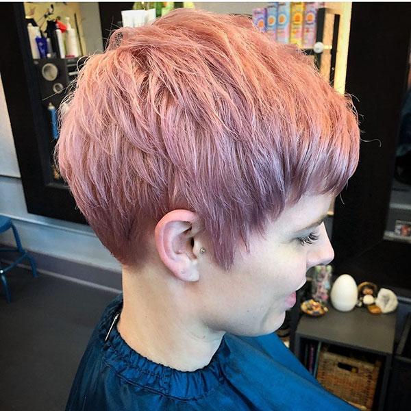 Pink Pixie Cut