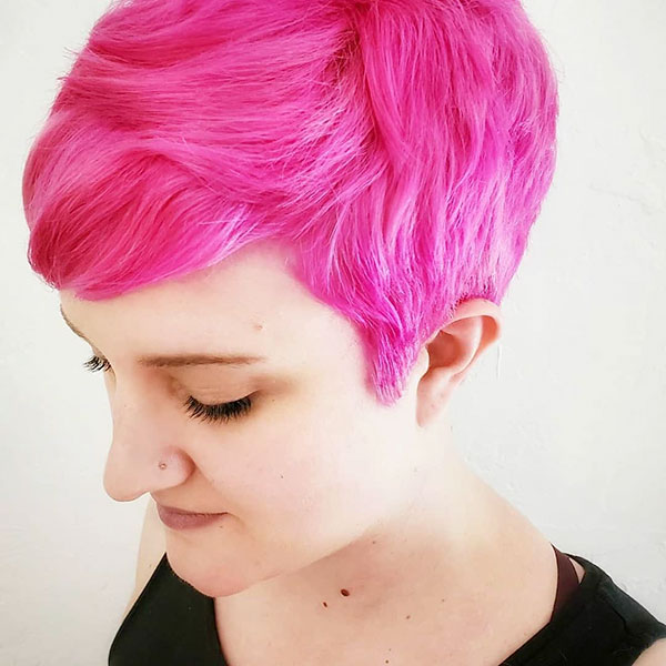 Pink Pixie Hairstyles