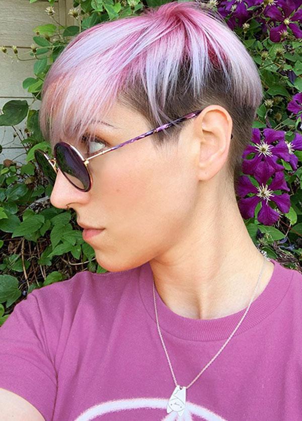 Pink Pixie Hair