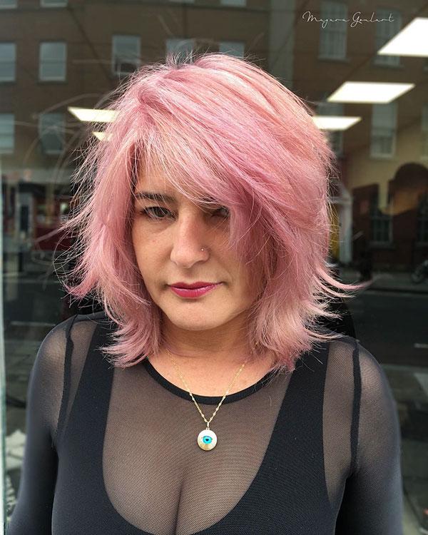 Pink Short Hair For Women
