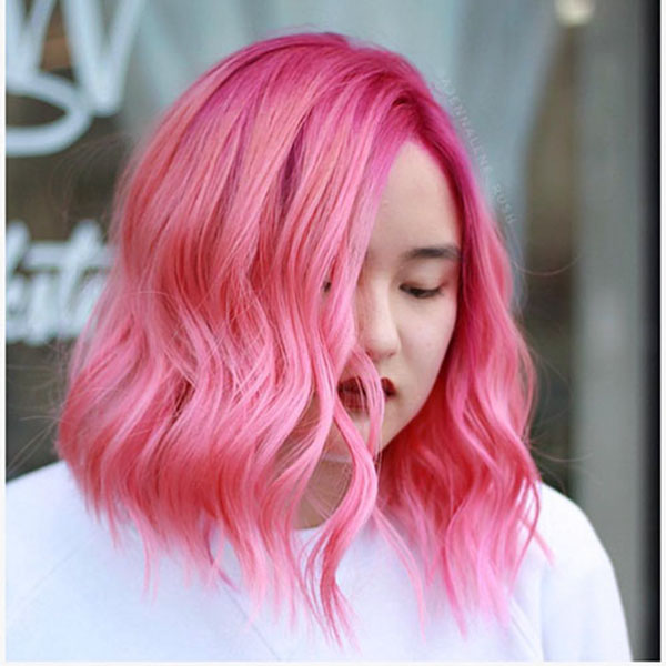 Pink Short Haircuts