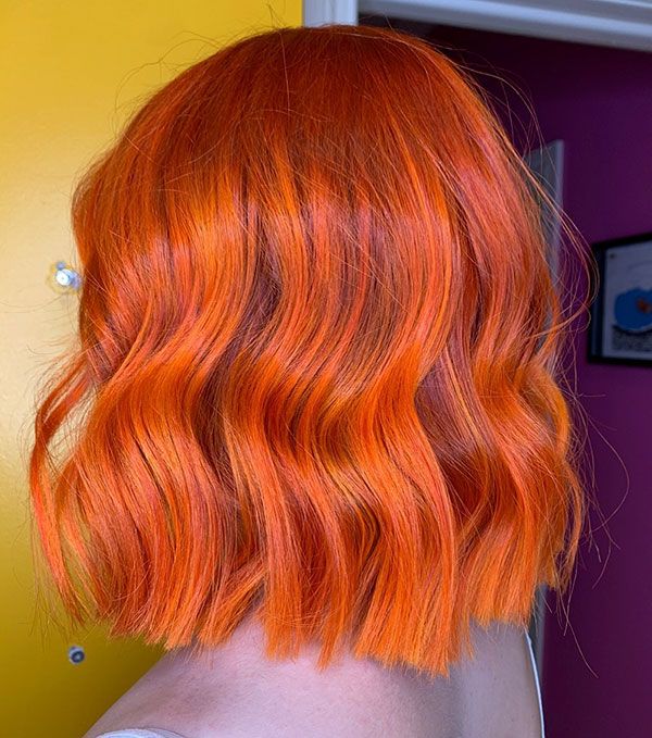 Short Hair Styles With Color