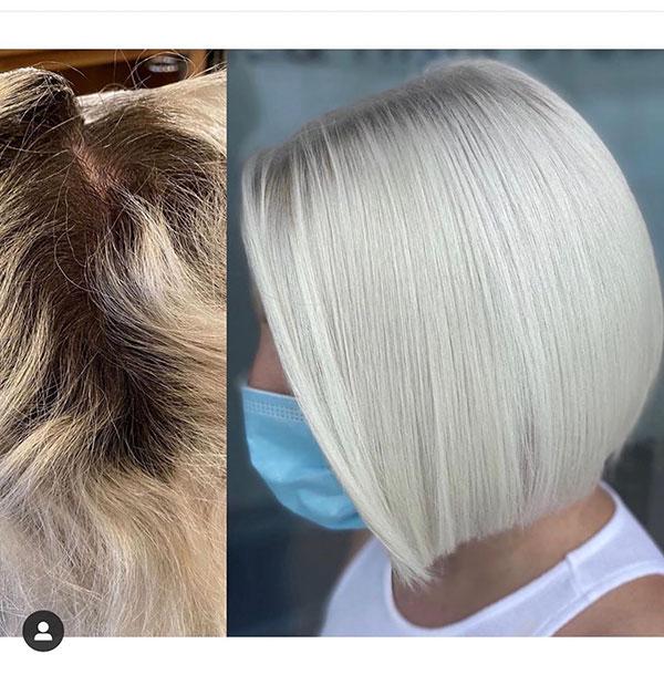 Pretty Short Hair Woman